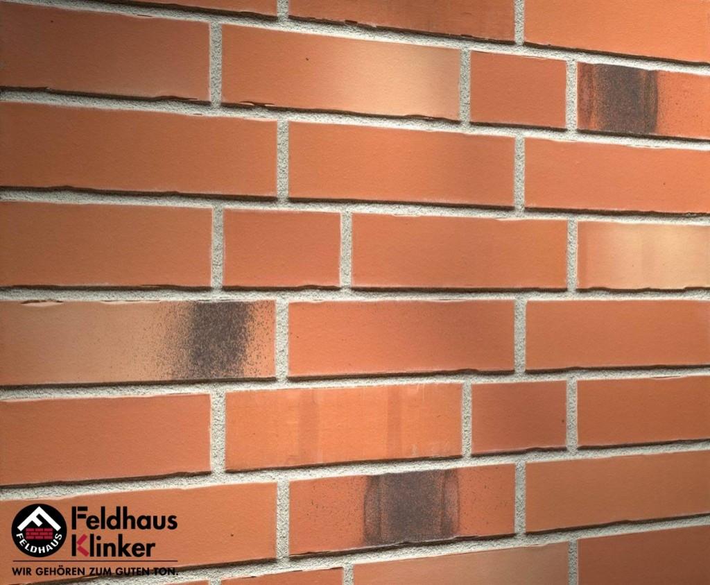 """Клинкерная плитка """"Feldhaus Klinker"""" для фасада и интерьера R985 bacco"""