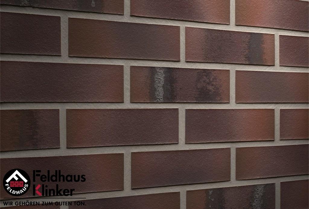 """Клинкерная плитка """"Feldhaus Klinker"""" для фасада и интерьера R561 carbona carmesi maritimo"""