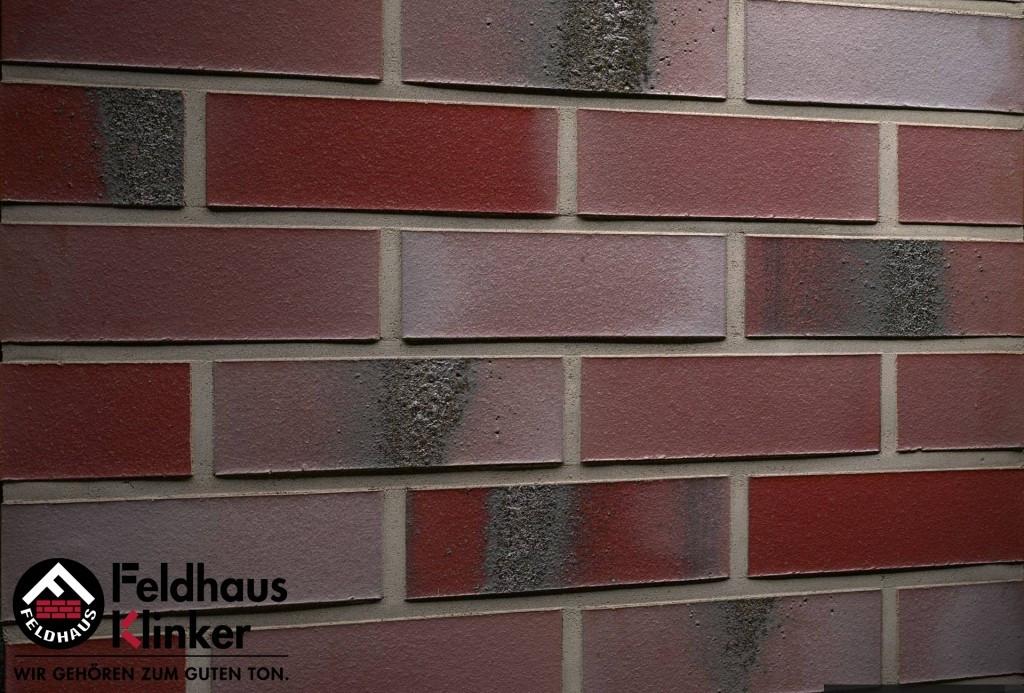 """Клинкерная плитка """"Feldhaus Klinker"""" для фасада и интерьера R563 carbona ardor rutila"""