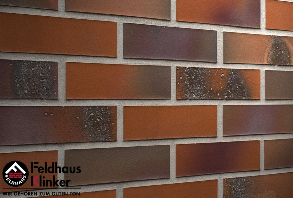 """Клинкерная плитка """"Feldhaus Klinker"""" для фасада и интерьера R582 salina terreno bluastro"""