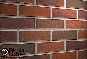 """Клинкерная плитка """"Feldhaus Klinker"""" для фасада и интерьера ов R714 accudo carmesi"""