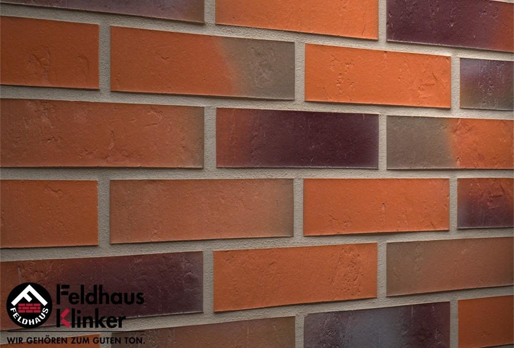 "Клинкерная плитка ""Feldhaus Klinker"" для фасада и интерьера R715 accudo terreno bluastro"