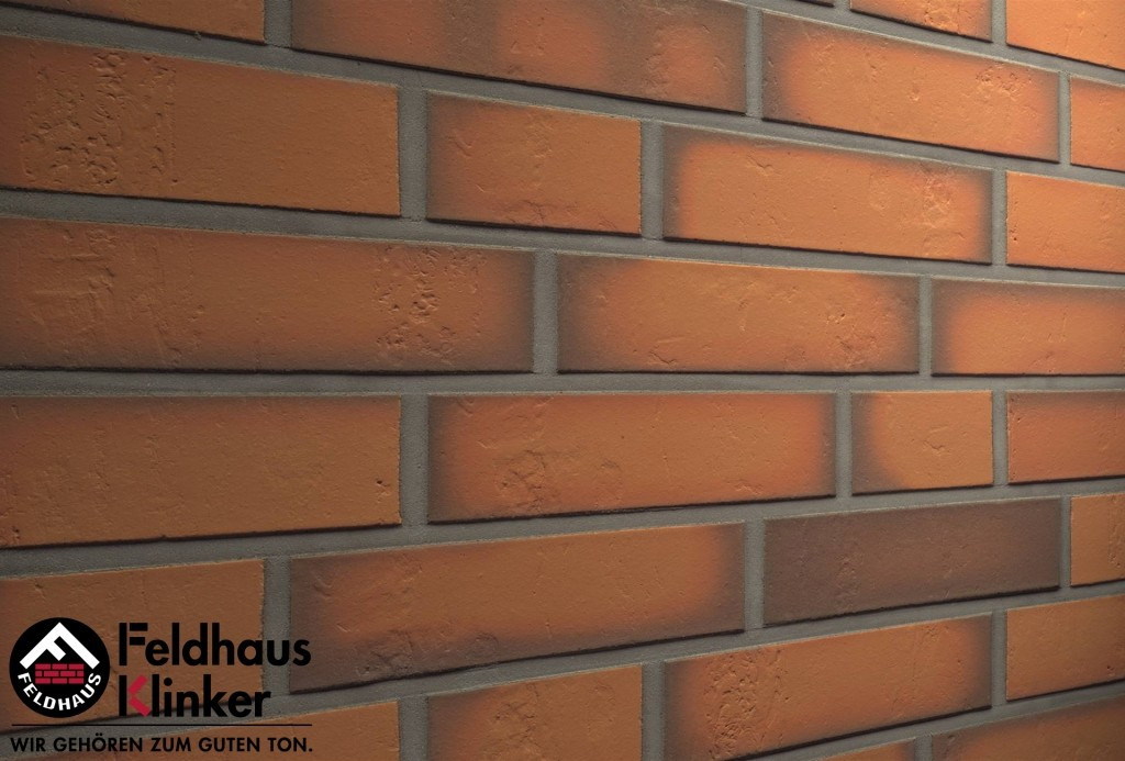 "Клинкерная плитка ""Feldhaus Klinker"" для фасада и интерьера R718 accudo terracotta vivo"