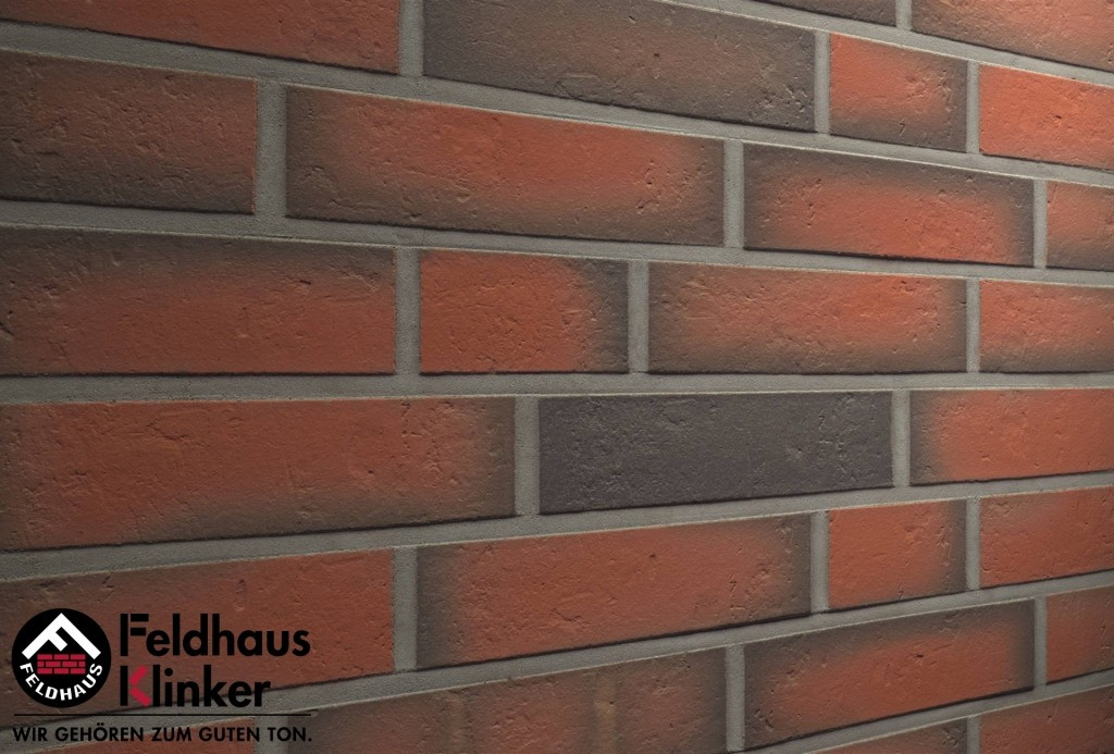 """Клинкерная плитка """"Feldhaus Klinker"""" для фасада и интерьера R719 accudo terreno viva"""