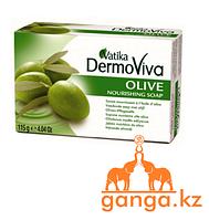 Мыло Cмягчающее (VATIKA DermoViva Naturals Olive DABUR), 115 гр