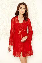 Кружевной женский комплект. Халатик + сорочка.
