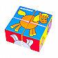 """Набор мягких кубиков """"Собери картинку"""" - Животные-2, 4 штуки, фото 2"""