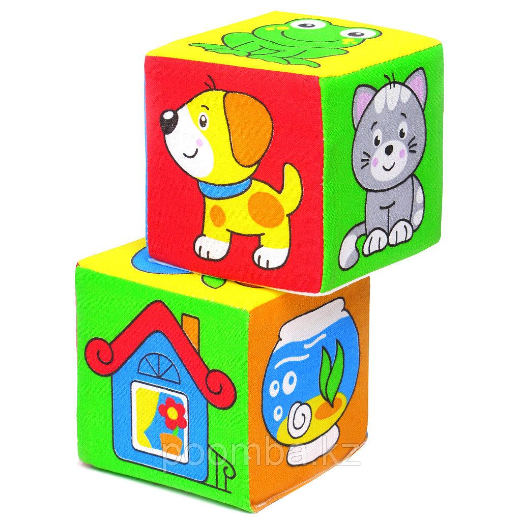 """Мягкие кубики """"Чей домик?"""""""