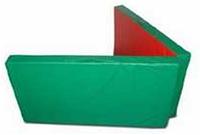 Мат гимнастический складной 2,0х1,0х0,05м цветной(тентовый)