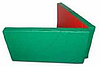 Мат гимнастический складной 2,0х1,0х0,08м цветной(тентовый)