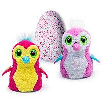 Интерактивный питомец Hatchimals - Пингвинчик, розово-желтый / розово-белый, фото 1