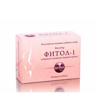 Фитосбор, Фитол 1, мастопатийный с экстрактом боровой матки, 30 капсул