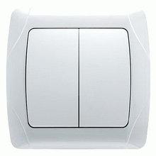 Выключатель электрический Серый Белый