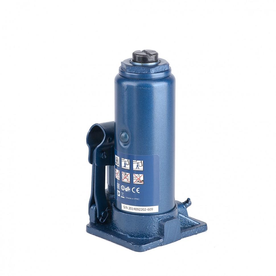 (51124) Домкрат гидравлический бутылочный, 6 т, h подъема 216–413 мм, в пласт. кейсе// STELS