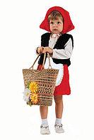 Карнавальный костюм Красная шапочка (шапочка, жилет, юбка) р28