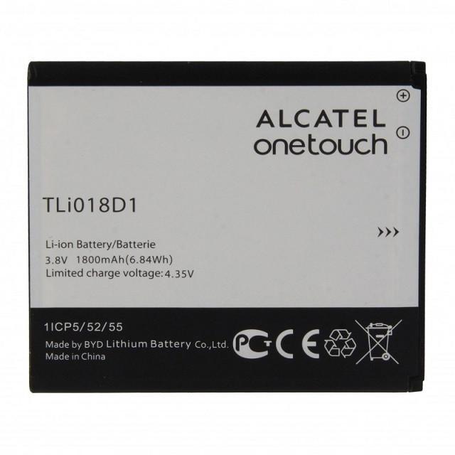 Заводской аккумулятор для Alcatel One Touch Pop D5 (TLi018D1 1800 mAh)