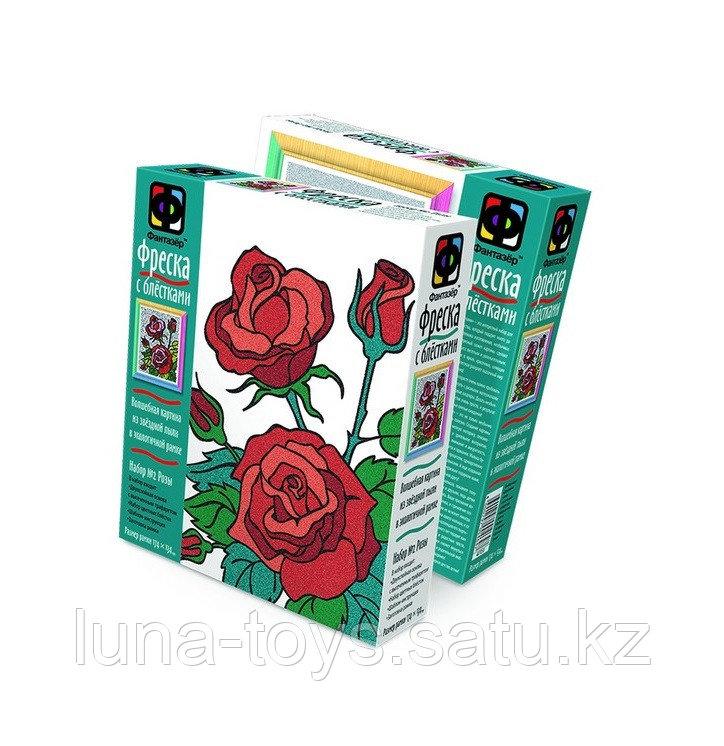 """Фреска с блестками """"Розы"""" 407058"""