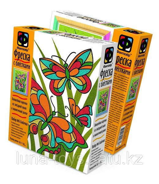 """Фреска с блестками """"Бабочки"""" 407062"""