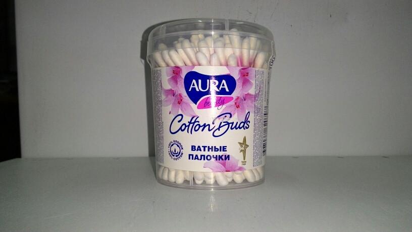 Ватные палочки Аура - AURA 100шт круглый стакан