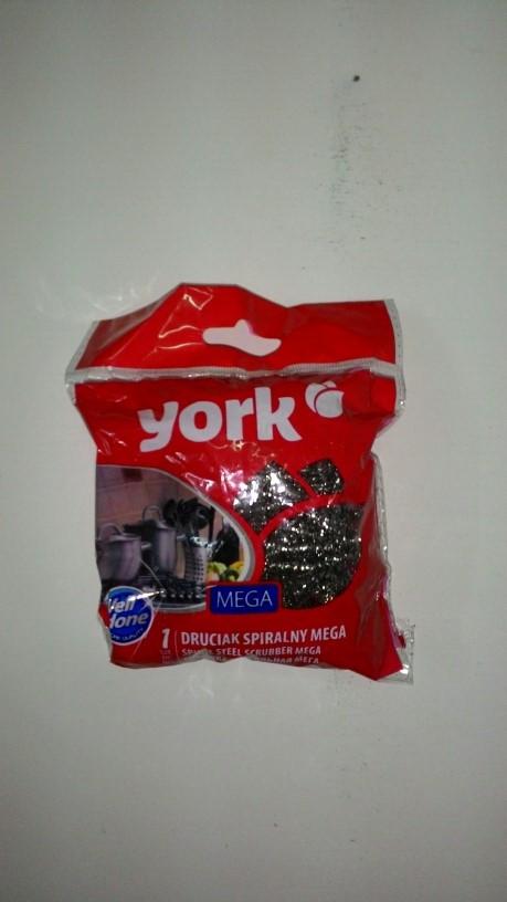 Губка для посуды Йорк - YORK металлическая мягкая 1 шт код0203
