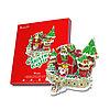 Сказочный рождественский замок ( с подсветкой )