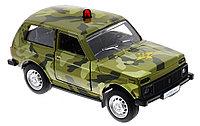 Технопарк LADA 4х4 военная металлическая модель, фото 1