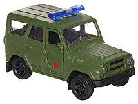 Технопарк УАЗ Hunter Военная полиция, металлическая инерционная модель, фото 1