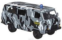 Технопарк УАЗ 39625 ОМОН металлическая инерционная модель, фото 1