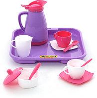 """Набор детской посуды """"Алиса"""" с подносом на 2 персоны (Pretty Pink)"""