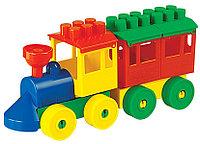 Конструктор Паровоз с одним вагоном