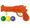 Пистолетик пластмассовый с шариками