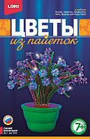 "Цветы из пайеток ""Синие васильки"""