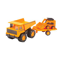 Игрушка строительная техника карьерный грузовик + минипогрузчик Бобкэт