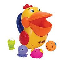 Голодный пеликан для ванной