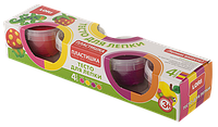 Пластишка Тесто для лепки набор №11, 4 цвета