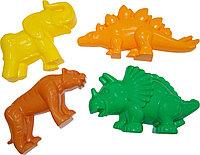 Формочки для песка (тигр, мамонт, динозавр)