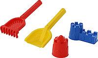 Набор для песка №568 лопатка, грабли и формочки