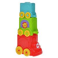 Кубики-блоки Весёлый паровозик, фото 1