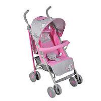 Прогулочная коляска-трость Зайчики розовая