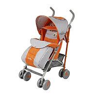 Прогулочная коляска-трость Мишки с чехлом оранжевая