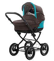 Детская коляска Noordi Polaris Classic 3 в 1 Черный / Голубой