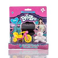Beanzeez игровой набор плюшевый Котенок с велосипедом