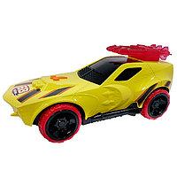 Машинка Hot Wheels на батарейках свет+звук, жёлтая