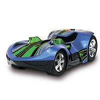 Машинка Turbo expander на батарейках свет+звук, электромеханическая синяя, фото 1