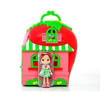 Игровой набор Шарлотта Земляничка домик и кукла 15 см