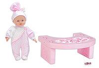 Tiny Baby Мягкий пупс с оригинальным розовым столиком, фото 1
