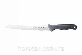 Нож кондитерский с пяткой и цветными вставками «Colour Luxstahl» 250 мм