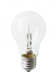 Е14 42Вт 2900К Лампа галогенная ТМ Etalin свеча на ветру матовая