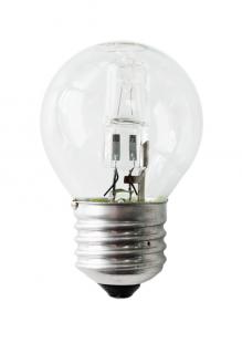 Е27 28Вт 2900К Лампа галогенная ТМ Etalin шарик прозрачный