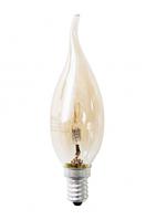 Е14 42Вт 2900К Лампа галогенная ТМ Etalin свеча на ветру золотая
